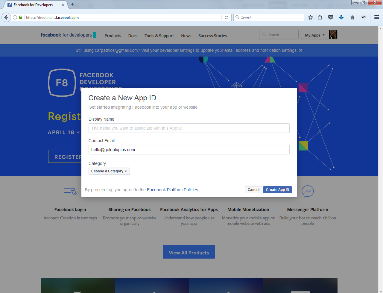 How To Get An App ID and Secret Key From Facebook | Gold Plugins