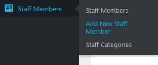 Screenshot of the Add New Staff Member menu