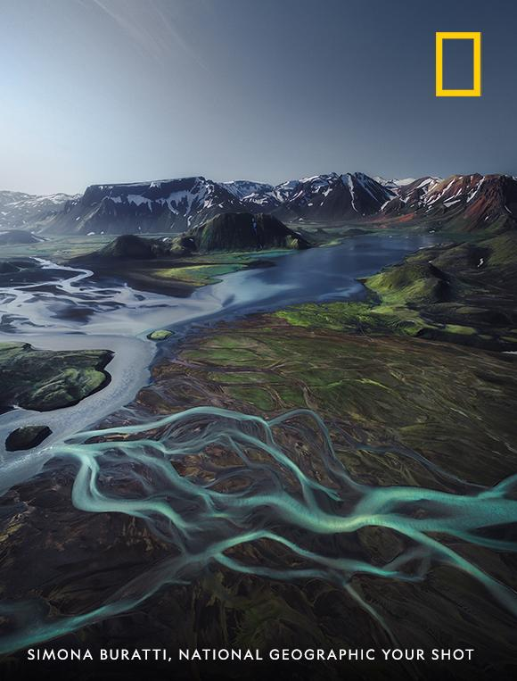 Branches of a river meander across the vast Icelandic highlands in this breathtaking vista captured by Your Shot photographer Simona Buratti. https://on.natgeo.com/2LrBnbh