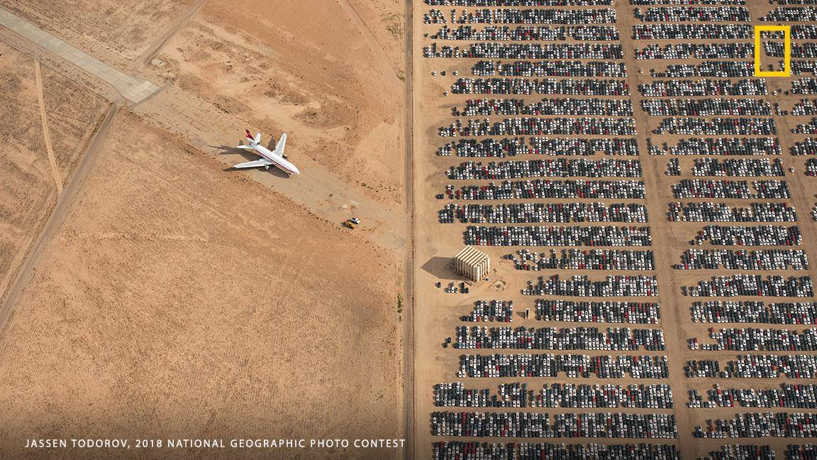 """By capturing scenes like this one, I hope we will all become more conscious and more caring for our beautiful planet,"" says photographer Jassen Todorov, who captured this aerial view of thousands of abandoned cars and won the grand prize in National Geographic's 2018 photo contest. https://on.natgeo.com/2Ul8u66"