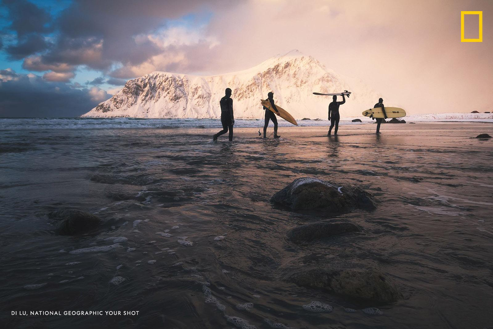 """People love adventure, especially in a magical place like Lofoten Islands which is one of the northernmost places in the world,"" writes Your Shot photographer Di Lu. https://on.natgeo.com/2GuGUgX"
