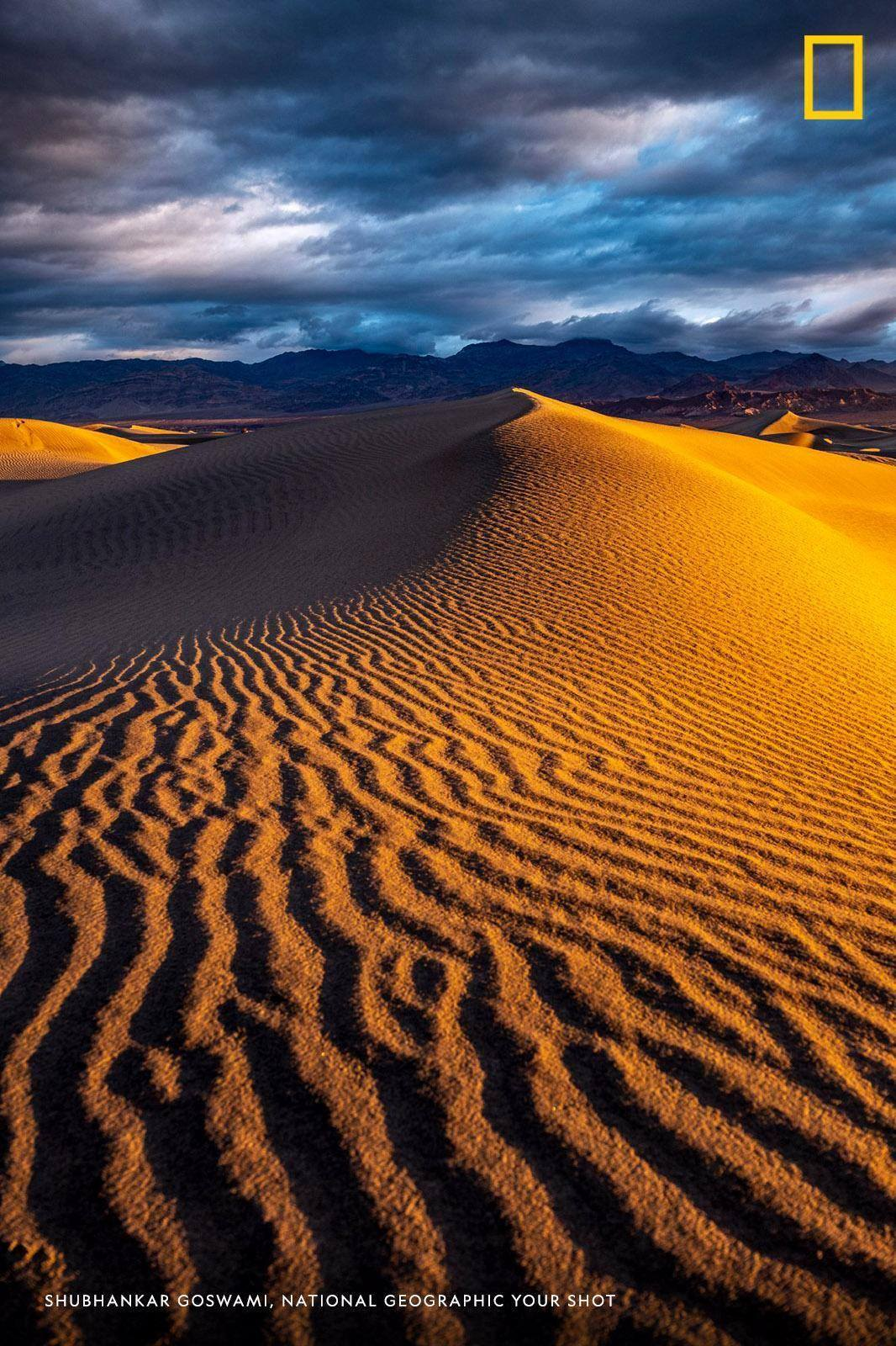 """""""It doesn't often rain in the Death Valley in California,"""" writes Your Shot photographer Shubhankar Goswami, who captured this stunning image in the moments following a brief storm. https://on.natgeo.com/2V43Sp0"""