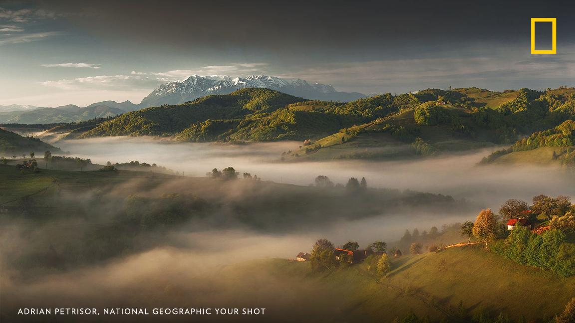 """""""Some people think I'm crazy because I wake up at 4 o'clock in a weekend morning to climb mountains only to see the sunrise,"""" writes photographer Adrian Petrisor. """"I totally consider it worth all the effort."""" https://on.natgeo.com/2IokT4e"""