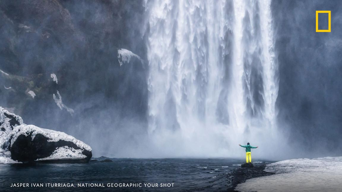 "Your Shot photographer Jasper Ivan Iturriaga made this photograph while facing the Skógafoss waterfall in Skógar, Iceland. He writes, ""This waterfall is one of my favorite waterfalls in the country."" https://on.natgeo.com/2KLk0E9"