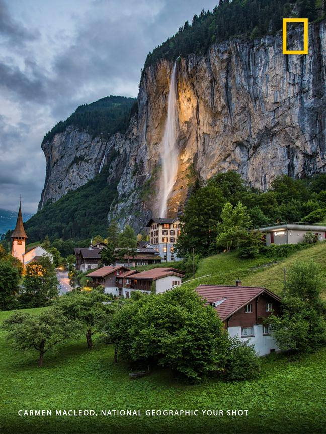 "This incredible landscape in the Swiss Alps hamlet of Lauterbrunnen is ""hands down one of the most magical places I have ever been,"" says Your Shot photographer Carmen MacLeod. https://on.natgeo.com/2MOzrPb"
