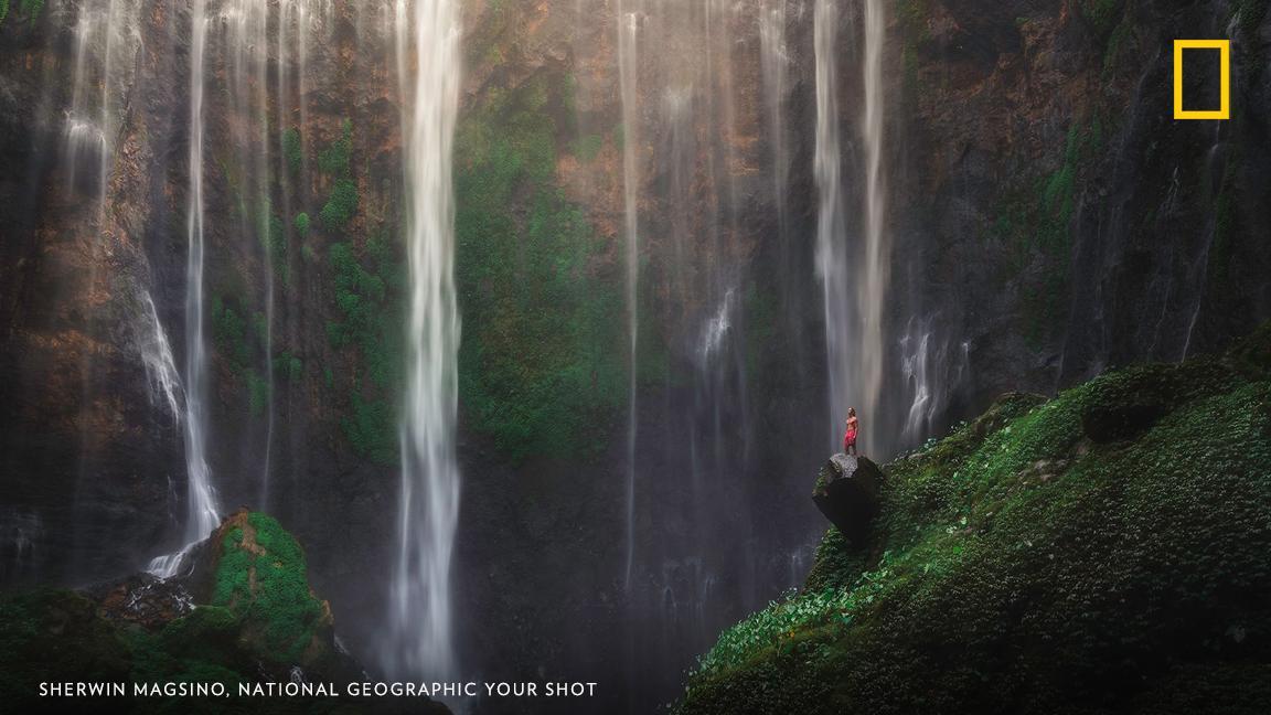 "Your Shot photographer Sherwin Magsino captured this image at Tumpak Sewu, which means 'a thousand waterfalls.' ""I sometimes get asked about my favorite place I've been to. This would have to be right up there on my list!"" https://on.natgeo.com/2Zgb6Zc"